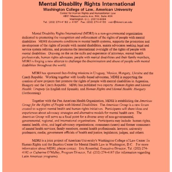 Mental Disability Rights Internaional