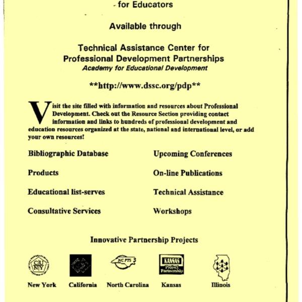 Professional Development Resources for Educators