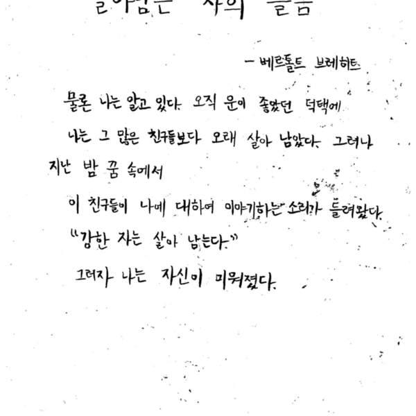 강남역 추모메세지 서울시민청 #389