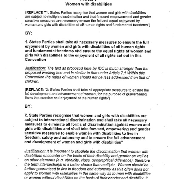 Article 6 Women with disabilities