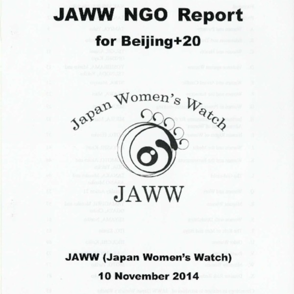 JAWW NGO Report for Beijing+20