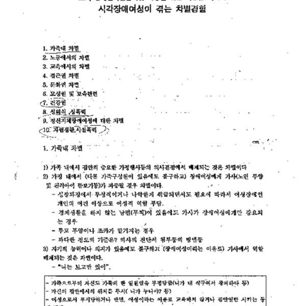 22차 장애인차별금지법 제정을 위한 여성팀 세미나